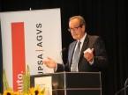 """""""Unsere Stimme der Vernunft findet Gehör"""": AGVS-Zentralpräsident Urs Wernli in seiner Ansprache."""