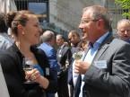 Irene Schüpbach vom AGVS im Gespräch mit auto-i-dat CEO Wolfgang Schinagl.